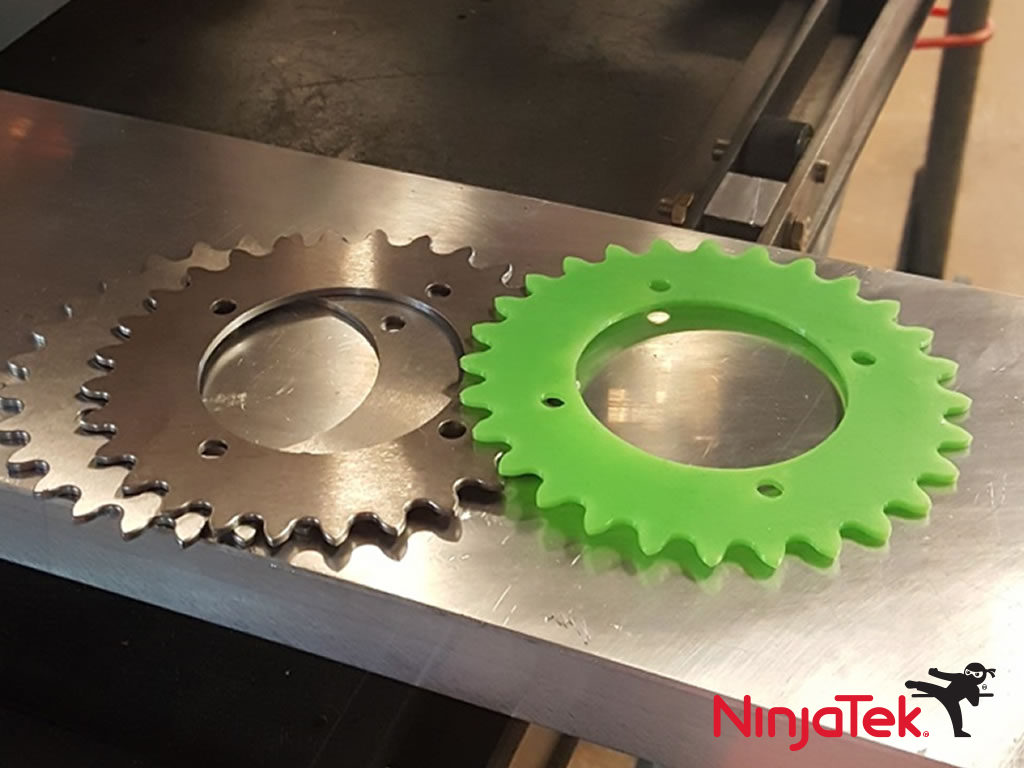 Gears printed with Armadillo 3D printing TPU filament