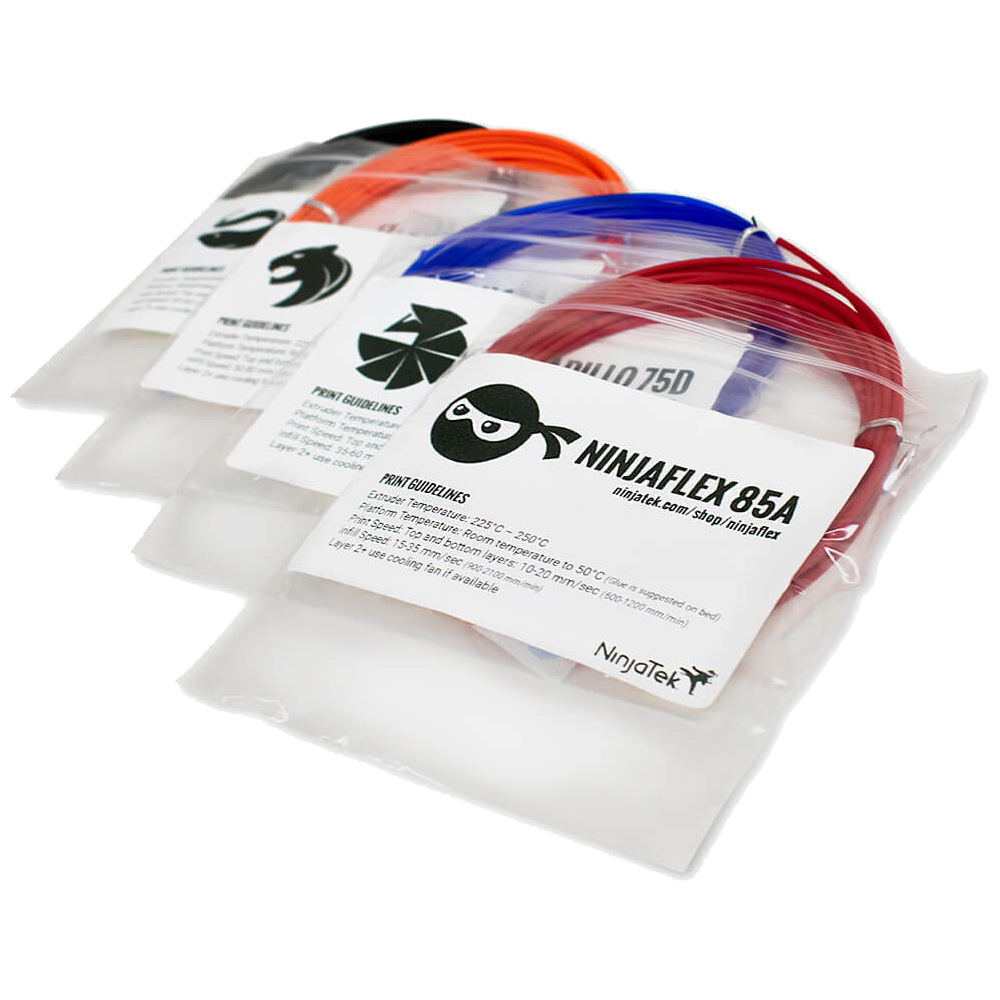 NinjaTek 3D Printing Filament Sample 4 Pack