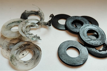 3D printed washers for gymnastic equipment